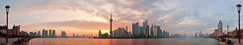 Скинали - Набережная Шанхая ранним утром