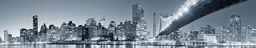 Скинали - Бруклинский мост в черном-белом стиле