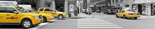 Скинали - Желтые такси на улицах Нью-Йорка