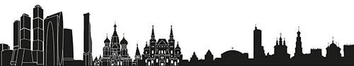 Скинали - Контуры достопримечательностей Москвы