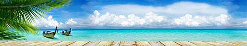 Скинали - Красивый голубой пейзаж для вашей скинали