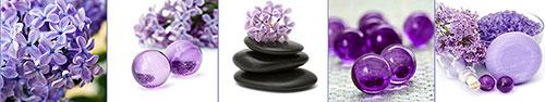Скинали - Красивый дизайн фиолетового коллажа