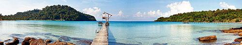 Скинали - Деревянная пристань для туристических лодок
