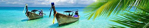 Скинали - Туристический лодки в голубой воде