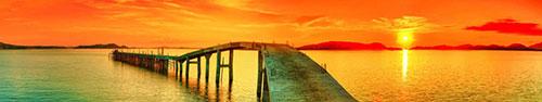 Скинали - Оранжевый закат над морем