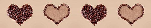 Скинали - Сердечки из зерен кофе