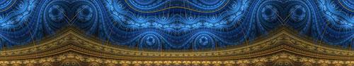 Скинали - Восточный ковер в синем и коричневом цветах