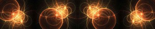 Скинали - Оранжевые светящиеся окружности на черном фоне