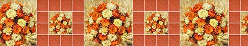 Скинали - Осенний коллаж из сухих цветов и колосьев