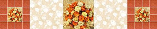 Скинали - Осенний коллаж из сухих цветов, колосьев