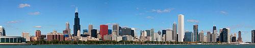 Скинали - Чикаго, Илинойс, дневной пейзаж