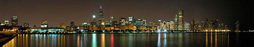 Скинали - Чикаго, ночной пейзаж