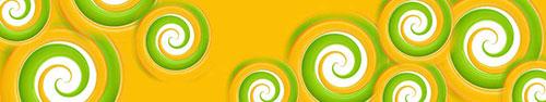 Скинали - Абстрактный фон с цветными завитушками