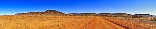 Скинали - Панорама необжитой местности в ясное небо