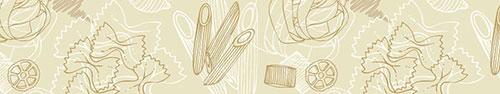 Скинали - Макаронные изделия на бежевом фоне