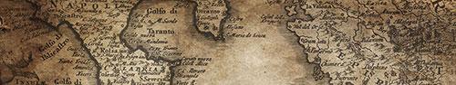 Скинали - Старинная карта Апеннинского и Балканского полуостровов