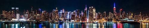 Скинали - Панорама Нью-Йорка глубокой ночью