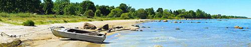 Скинали - Лодка на берегу залива