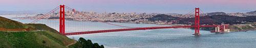 Скинали - Панорама Золотых Ворот в Сан-Франциско