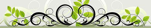 Скинали - Узор с растительным настроением