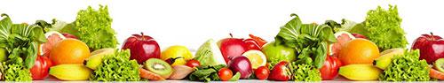 Скинали - Свежие фрукты и овощи на белом фоне