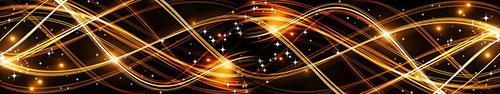 Скинали - Светящиеся линии на черном фоне