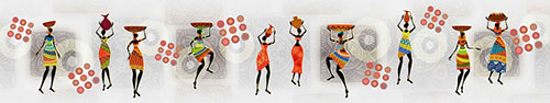 Скинали - Африканские узоры и девушки с сосудами