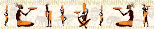 Скинали - Негритянки с оранжевыми сосудами