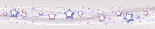 Скинали - Звездочки на светлом фоне с линиями