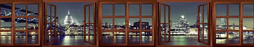 Скинали - Вид из окна на Мост Тысячелетия и Собор Св. Петра в Лондоне