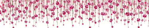 Скинали - Свисающие весенние цветочки на белом фоне