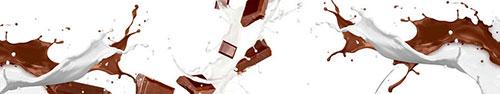 Скинали - Плитки шоколада в струях молока и горячего шоколада