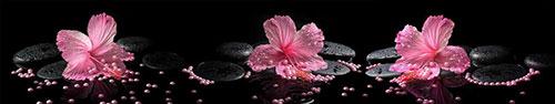Скинали - Розовый гибискус на камнях дзен с бусинками
