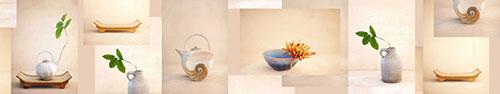 Скинали - Натюрморты с сосудами и подносами из бамбука