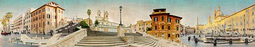 Скинали - Площадь Навона и Испании в Риме