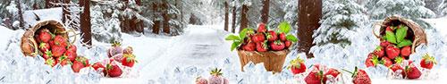 Скинали - Клубника со льдом на фоне снежного пейзажа