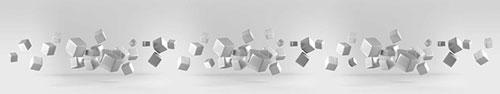 Скинали - Серебристые кубы в пространстве
