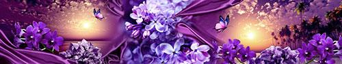 Скинали - Коллаж в пурпурно-фиолетовом цвете