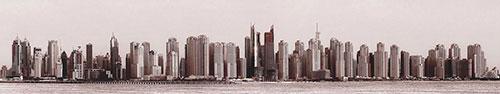 Скинали - Панорамный вид на Дубай в сепии