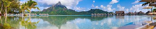 Скинали - Вид на гору Отеману, остров Бора-Бора