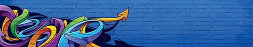 Скинали - Стена с ярким рисунком