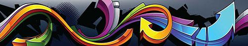 Скинали - Яркий рисунок граффити