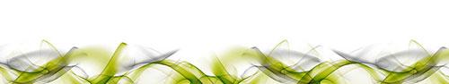 Скинали - Линия ярких хаотичных волн на белом фоне