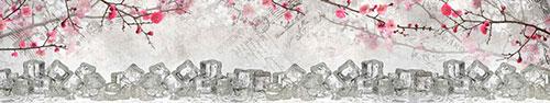 Скинали - Лед на фоне цветущих веточек и писем