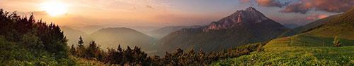 Скинали - Панорама в горной долине