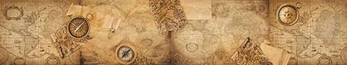 Скинали - Винтажные карты мира