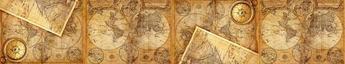 Скинали - Винтажные карта мира