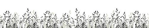 Скинали - Силуэты травы на белом фоне