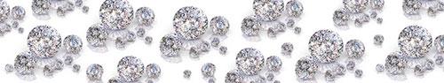 Скинали - Бриллианты на белом фоне
