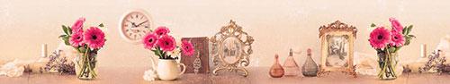 Скинали - Винтажный фон с яркими цветами